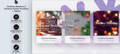 Christmas Slideshow & Christmas Particle Transitions