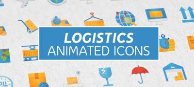 Logistics & Transportation Modern Flat Animated Icons