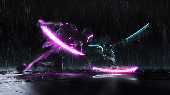 Download Cyborg Ninja Battle Logo - FREE Videohive