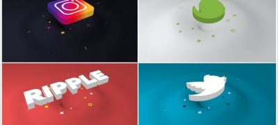 Minimal Ripple 3D Logo