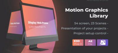 Animated Screen Website Mockup Promo - iMac Pro Mockup Web Presentation