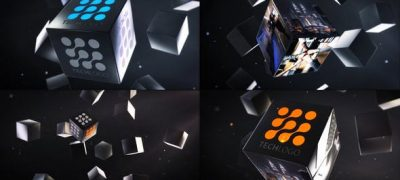 Abstract Business Cubes Logo Reveals