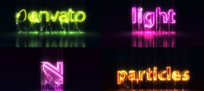 Light Particles Logo | Titles