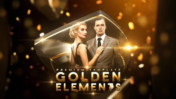 Download Golden Elements - FREE Videohive